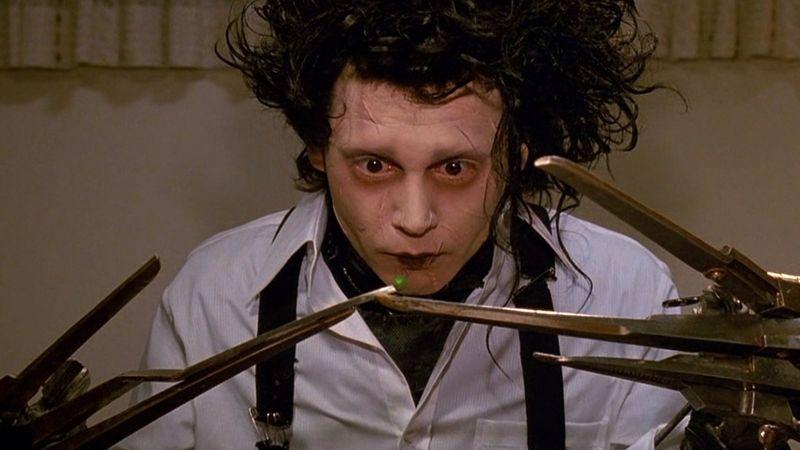 Johnny Deep in una famosa scena di Edward Mani di Forbice