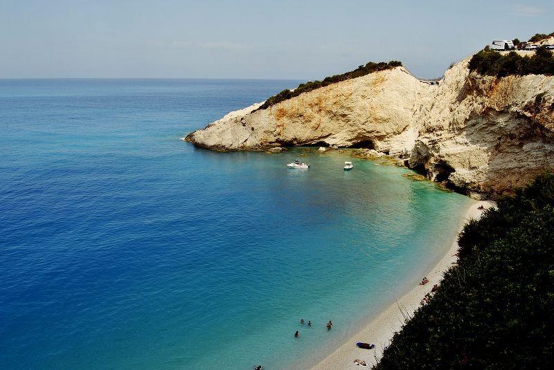 Baia naturale dell'isola di Lefkada