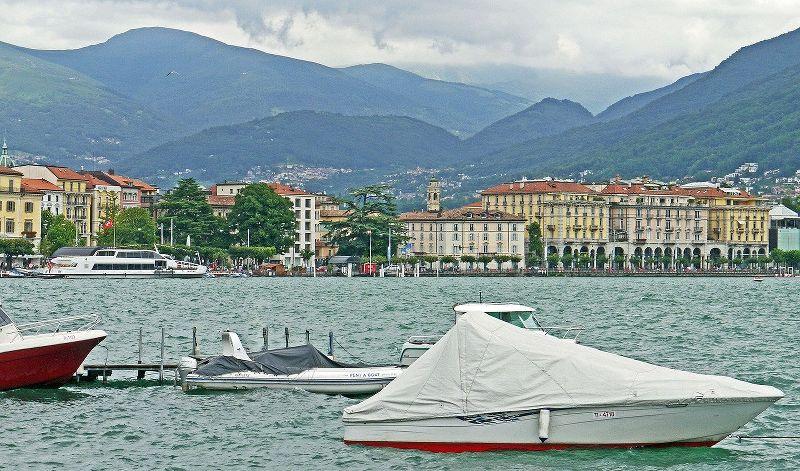vista di Lugano e del Ceresio (lago di Lugano)