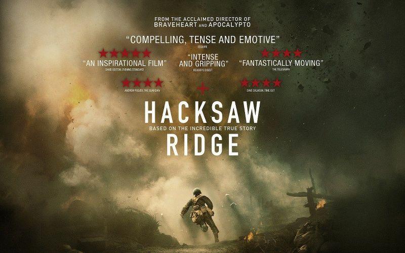 La locandina del film di Mel GibsonLa battaglia di Hacksaw Ridge